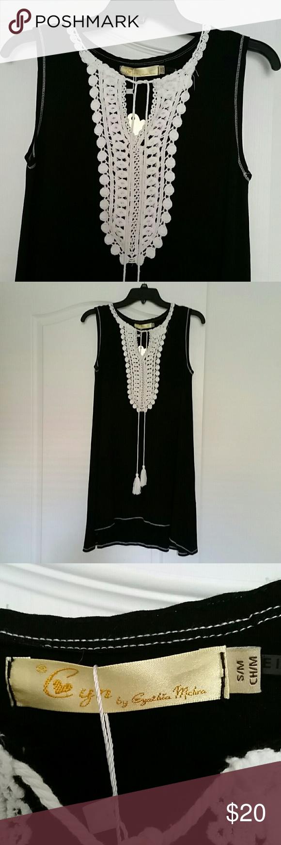Black dress coverup sz sm shoulder th and cotton