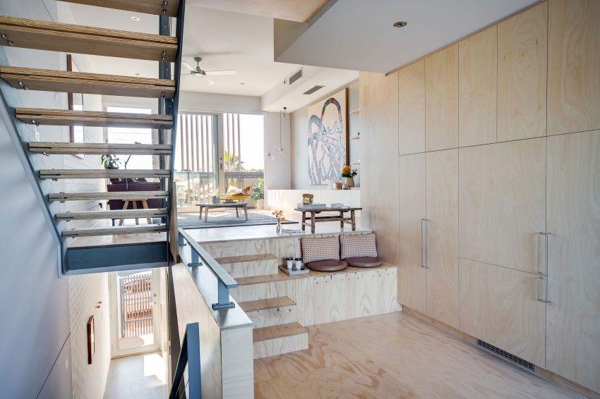 Interieur Inrichting Galerie : Speelse moderne woonkamer met underlayment interieur inrichting