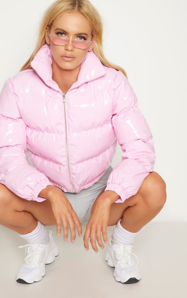ea2f0346a6a43 Pink Vinly Puffer in 2019 | Glam | Pink puffer coat, Puffer jackets ...