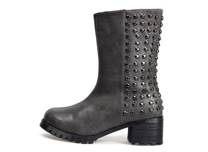 tolle boots stiefelette schuhe nietenstiefel biker ankle. Black Bedroom Furniture Sets. Home Design Ideas