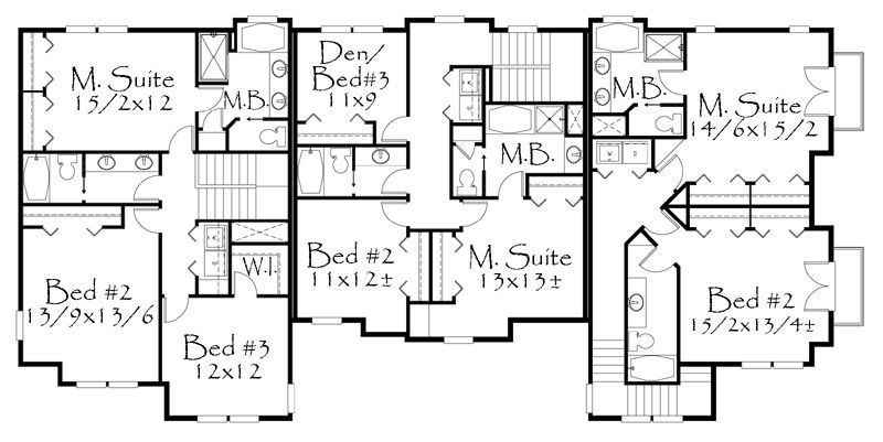 4658 Square Feet 8 Bedrooms 6 Batrooms 3 Parking Space On 2 Levels Floor Plan Number 2 Bedroom House Plans House Plans Mansion Floor Plan