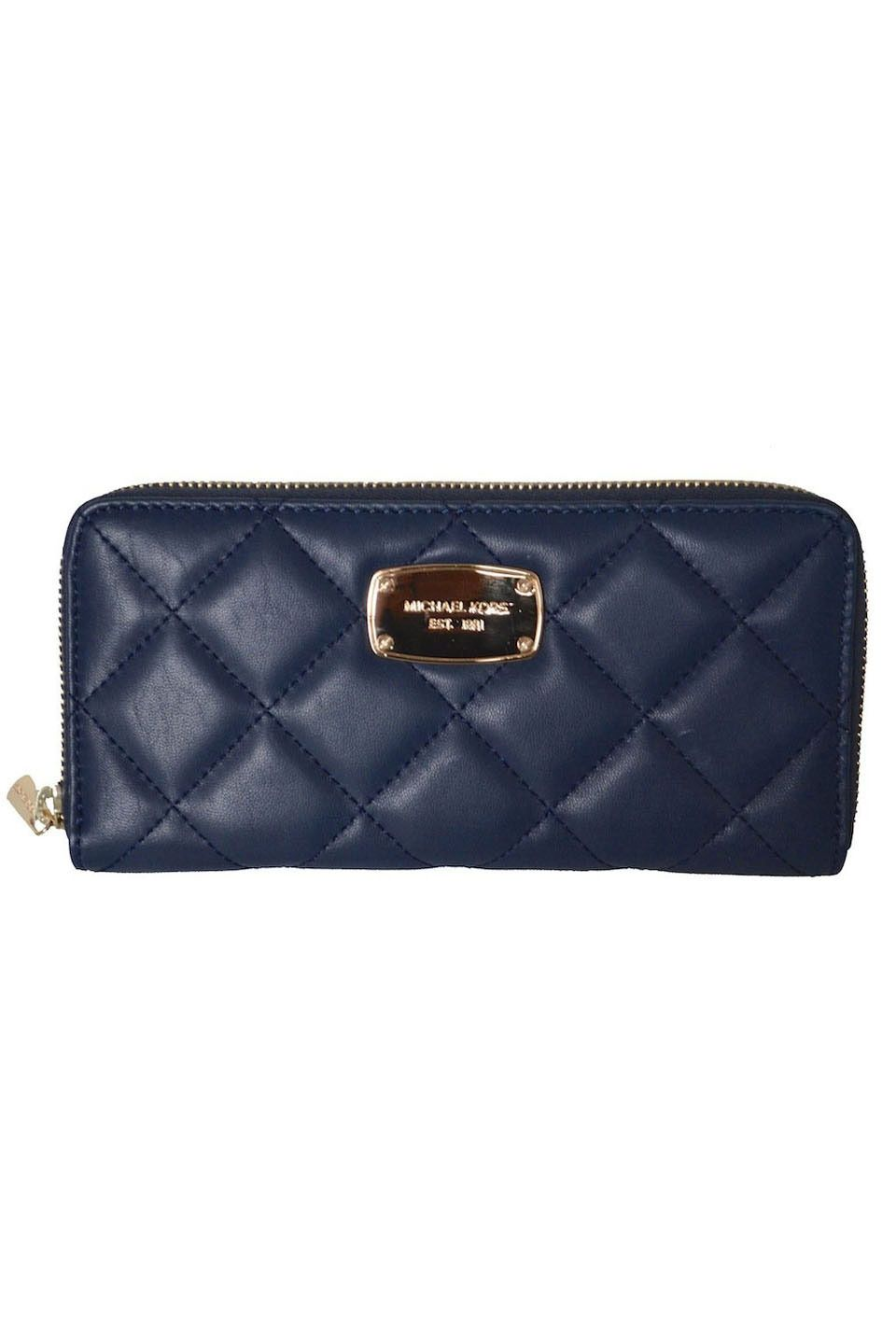 hamilton quilt za continental leather wallet in navy michael kors is rh pinterest com