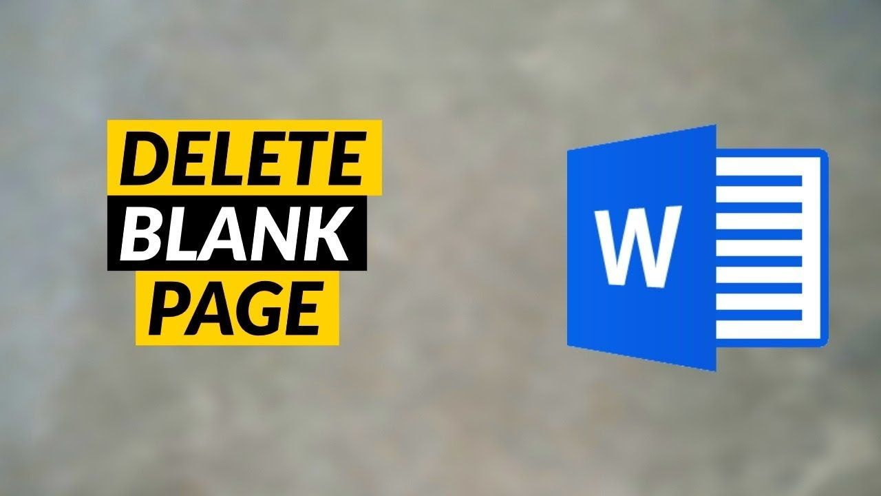 How to Delete a Blank Page in Microsoft Word - Remove Empty