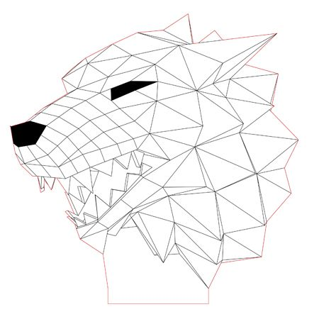 Stark Wolf 3d Illusion Lamp Vector File For Laser And Cnc 3bee Studio 3d Illusions 3d Illusion Lamp 3d Illusion Art