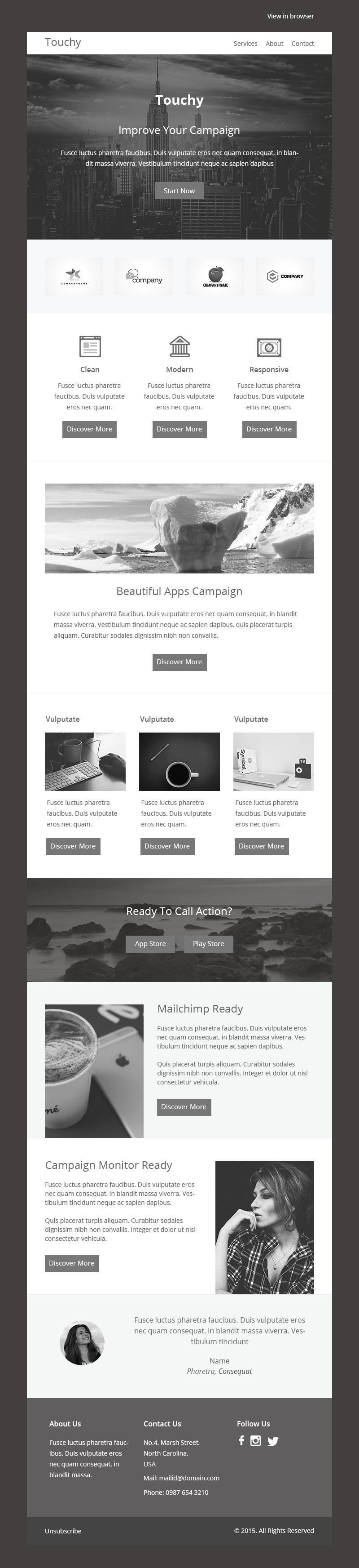 TOUCHY-PSD RESPONSIVE EMAIL TEMPLATE by pennyblack on ...