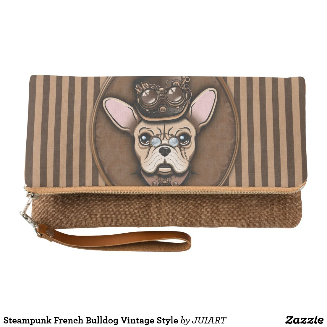 Steampunk French Bulldog Vintage Styles Clutch Zazzle Com