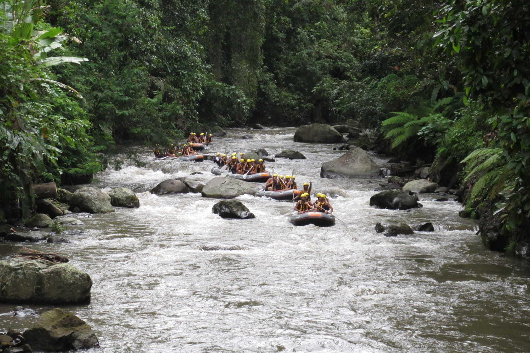 White Water Rafting On Ayung River Around Bali White Water Rafting Outdoors Adventure Rafting