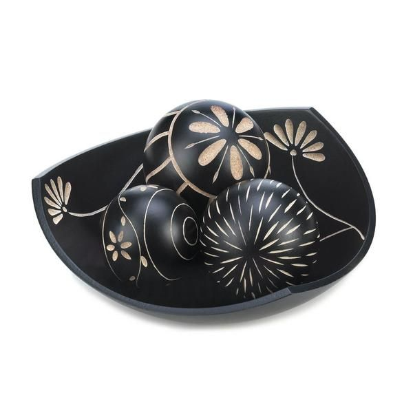 Black Decorative Balls Best Artisan Tripoint Bowl Decorative Balls  Simple Flowers Book Design Inspiration