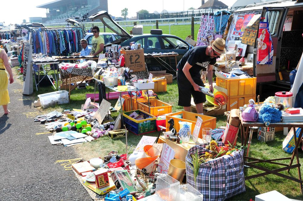 Bargain hunting together at car boot sales for things to paint or craft with.
