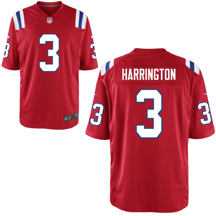 Nike Men S New England Patriots Customized Throwback Game Jersey 3 Harrington Jerseys Nfl