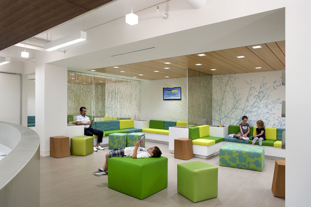 Georgetown University Hospital relocated its Pediatrics and Adolescent Departments to a 22,000 SF of