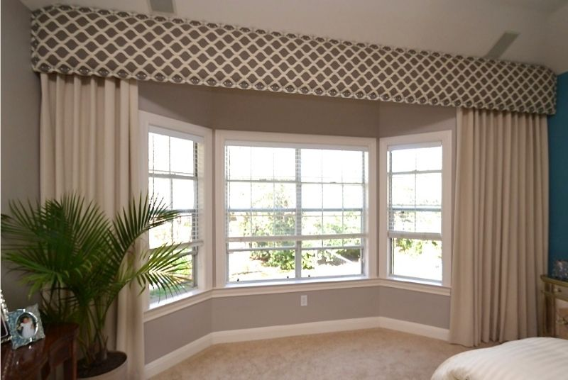 Draperies side panels fabric valances home for Window valances for bedroom
