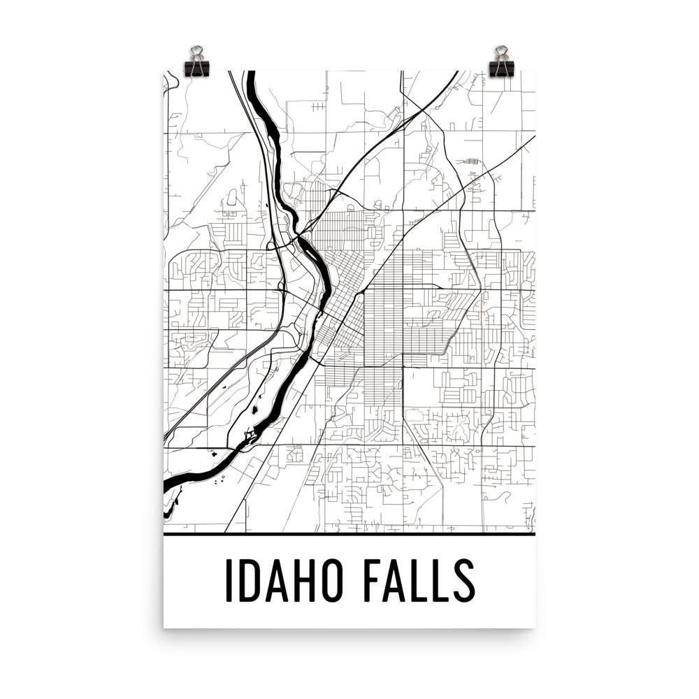 Idaho Falls ID Street Map Poster Products Pinterest