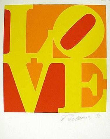 Indiana Robert Love Pop Art Silk Screen Abstract Art