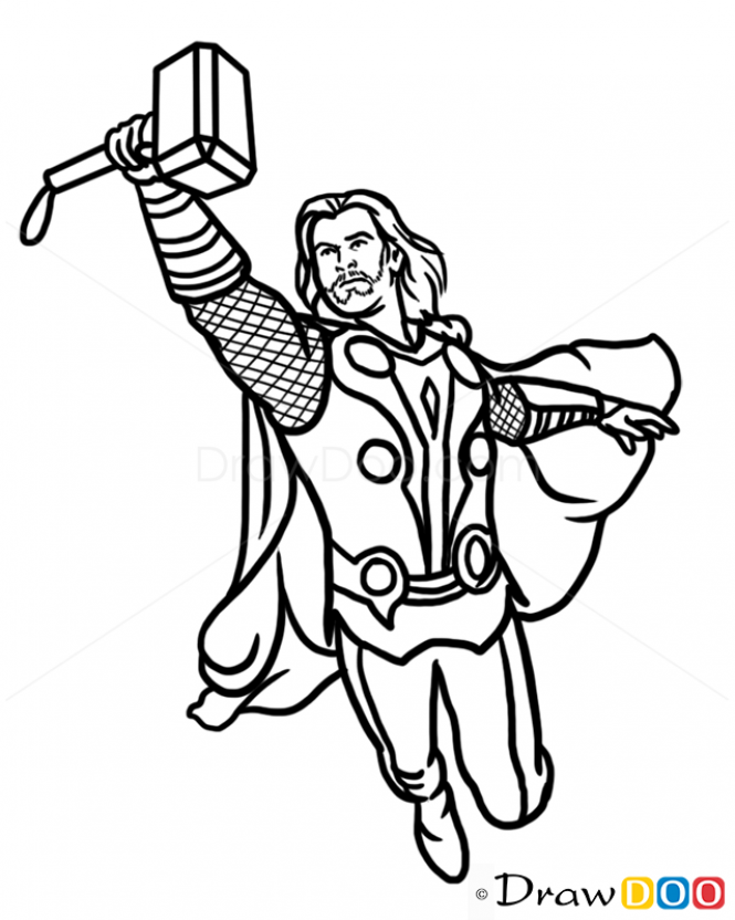 Thor Cartoon Drawing Google Search Witchcraft