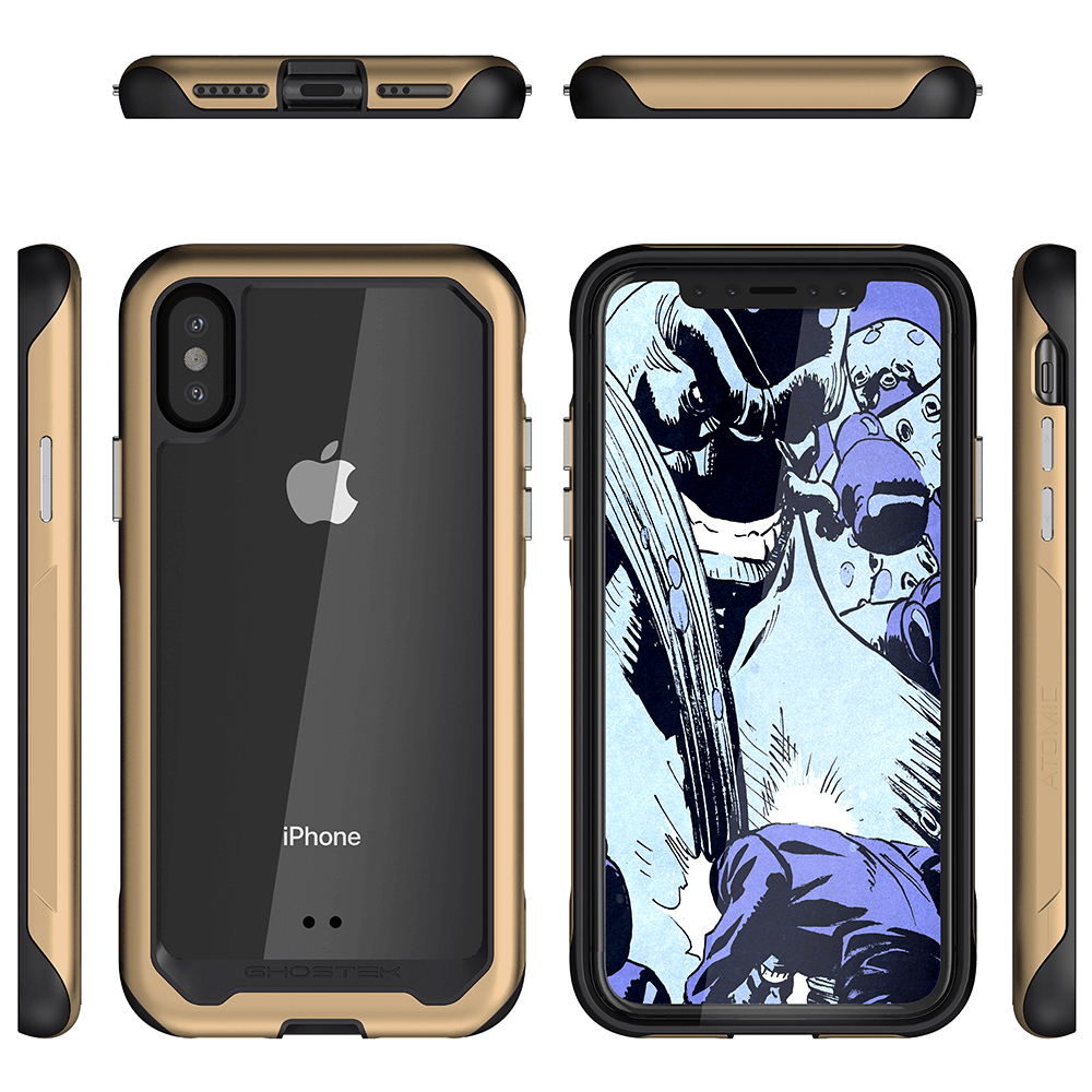 Iphone Xs Max Case Ghostek Atomic Slim 2 Series For Iphone Xs Max Rugged Heavy Duty Case Gold Iphone Case Military Grade