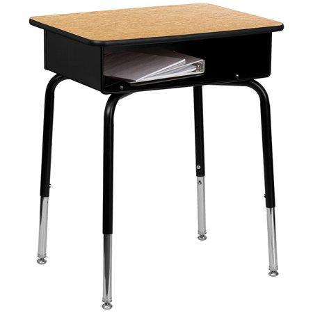 Student Desk With Open Front Metal Book Box Walmart Com In 2020 Student Desks Lancaster Home Flash Furniture