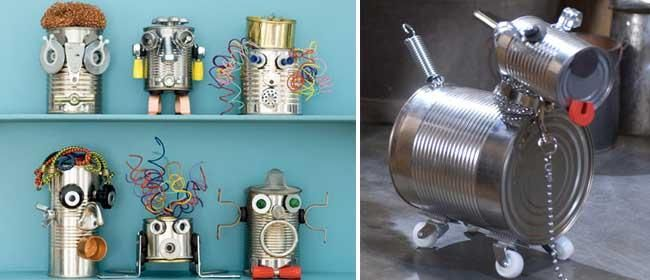 robots con material reciclado faciles - Buscar con Google