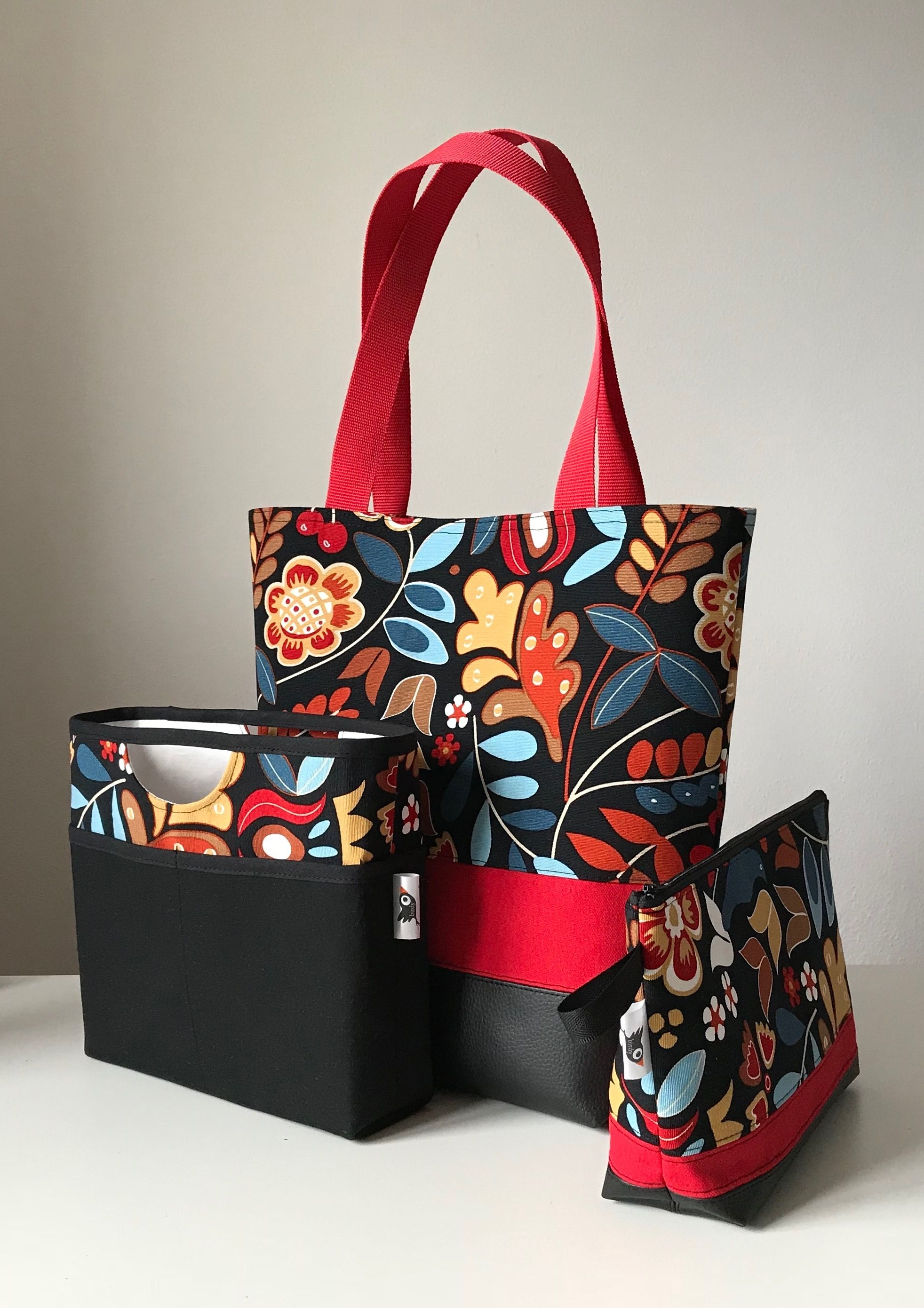 black Shoulderbag red IKEA and flowers w7rq5O7pU