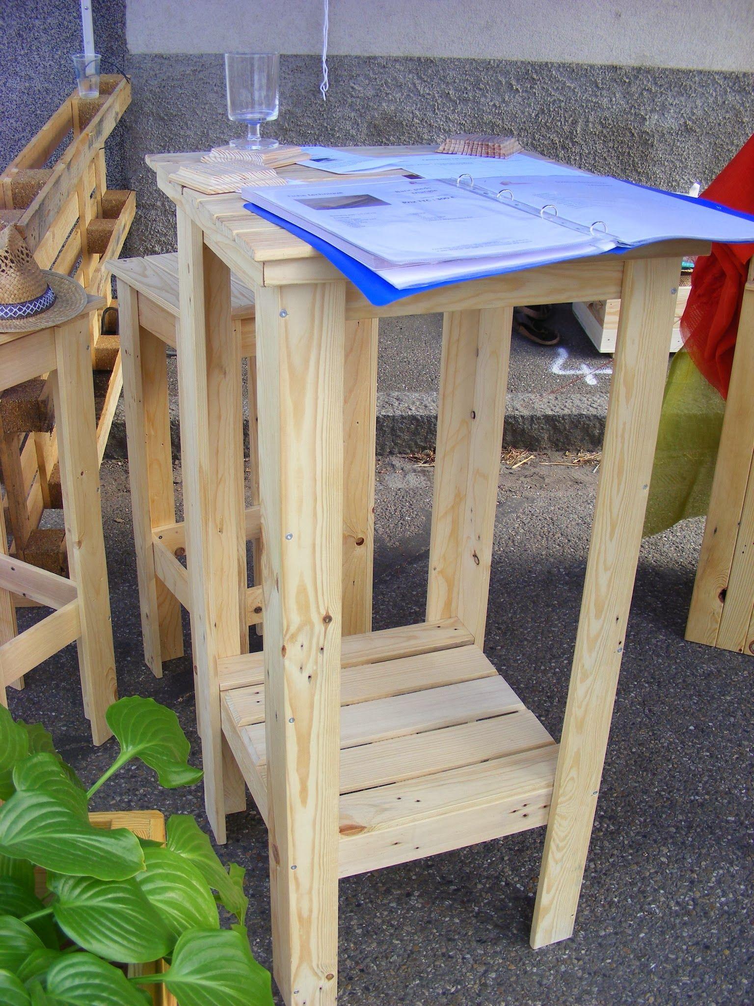Un mange-debout en bois de #palettes recyclées | Projets à ...