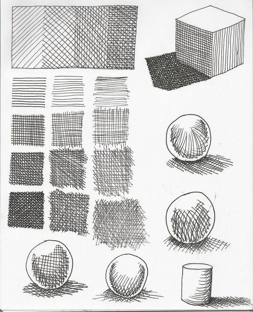 Штрихи в рисунке в картинках