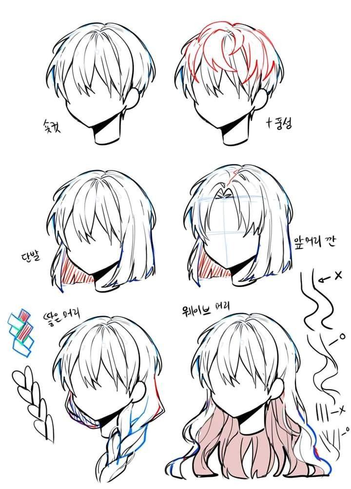 Cabelo In 2020 Anime Drawings Sketches Anime Drawings Tutorials Cartoon Art Styles