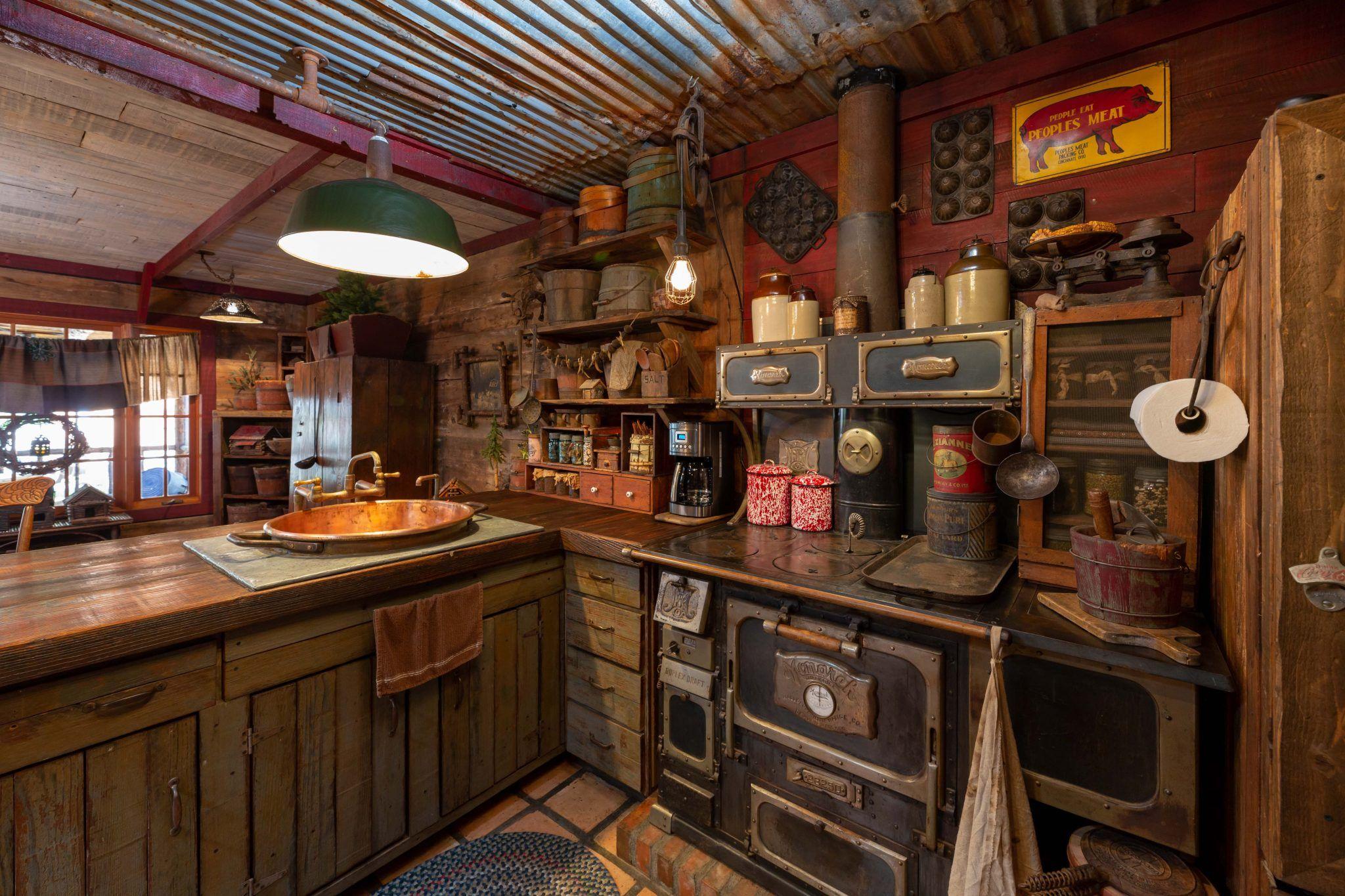 Rustic Wonderland Rustic Cabin Kitchens Log Home Kitchens Log