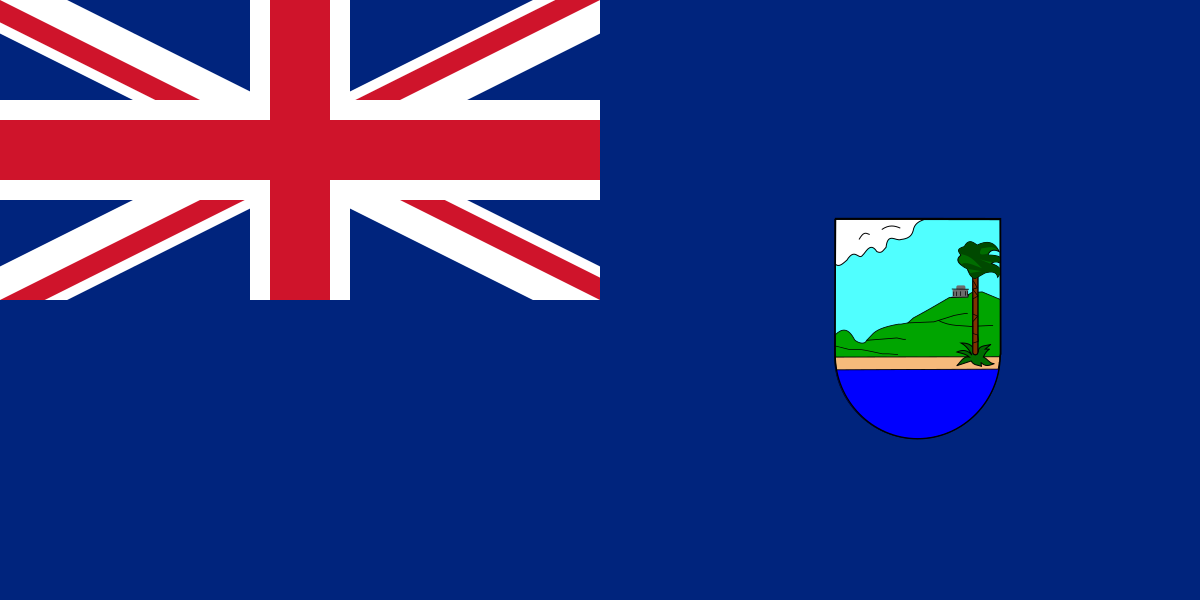 Flag Of Antigua And Barbuda 1962 1967 British Flag Flag