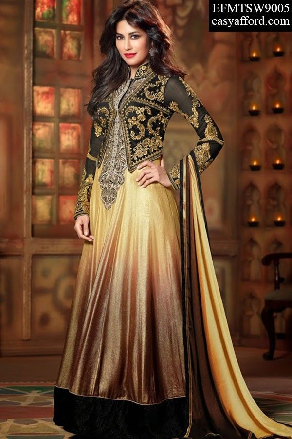Today's Price Rs. 4783/- For Buy Call or Whatsapp 08968017642, 07837409851 or Click the below link http://easyafford.com/anarkali-suits/1330-chitrangada-singh-jacket-style-anarkali-suit.html