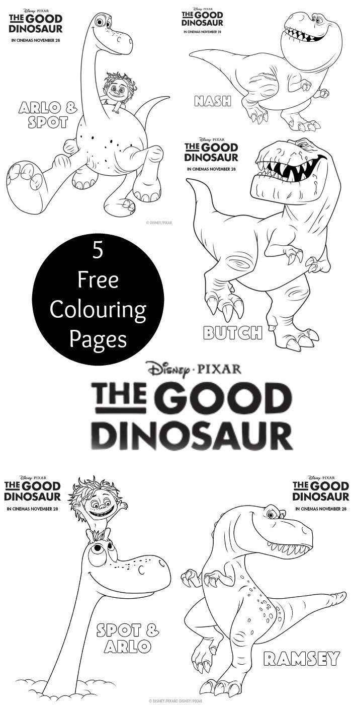 Disney dinosaur coloring pages - Disney Pixar The Good Dinosaur Colouring Page Printables 5 Different Colouring Sheets For Kids With