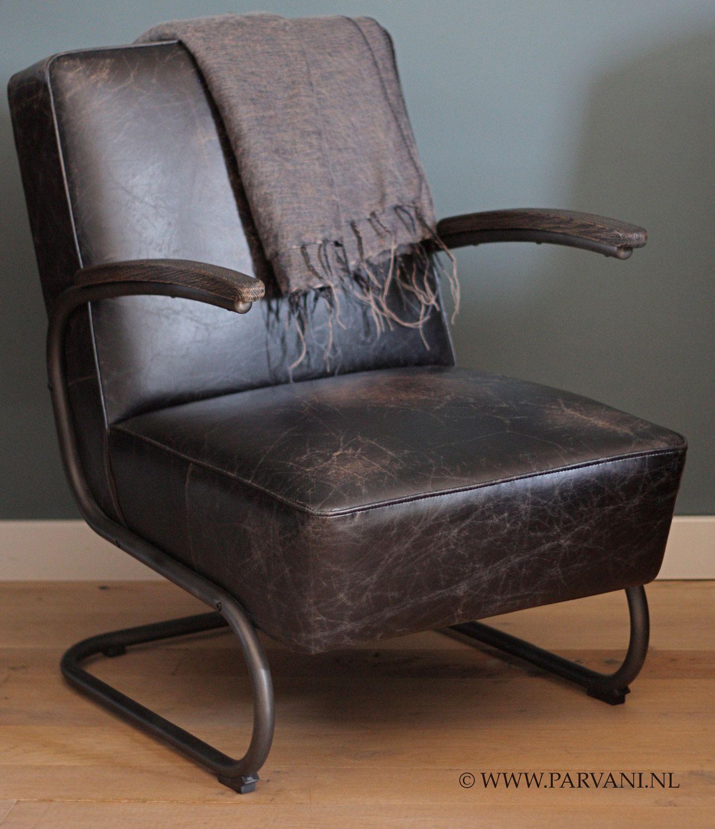 Wonderlijk Parvani | Vintage-leren-fauteuil-stoel-robuust (met afbeeldingen SE-69