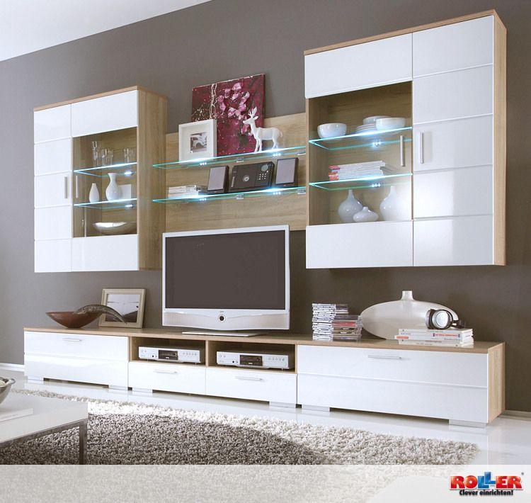 Die große, helle #Wohnwand STARGATE bietet viel Platz für - grosse bilder fürs wohnzimmer