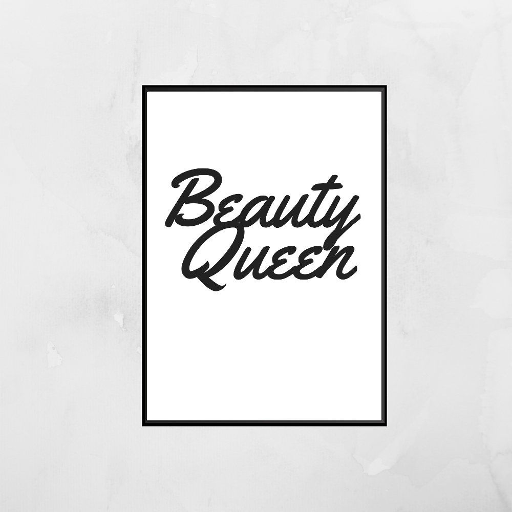 beauty queen wall art, beauty prints, bathroom wall art, bathroom