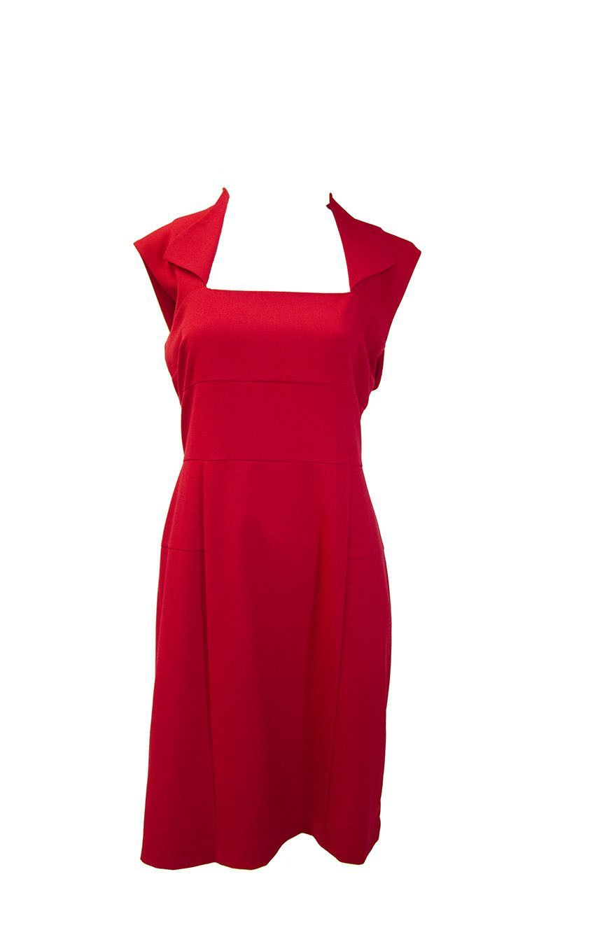 Andrew Marc Women's Red Pin-up Dress