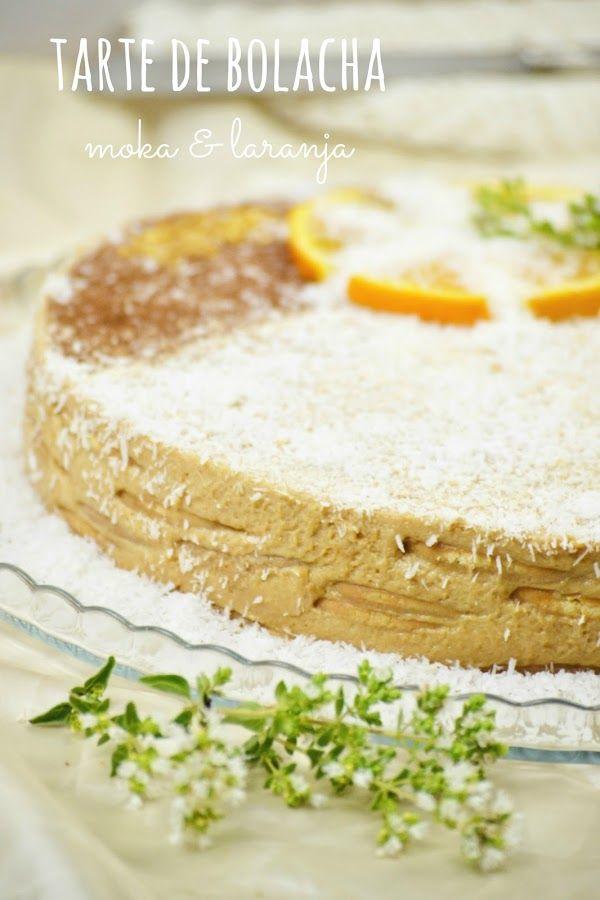 A Nel na cozinha das maravilhas...: Tarte de bolacha moka e laranja