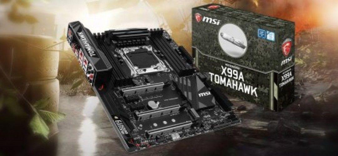 Motherboard di MSI X99A da Gaming