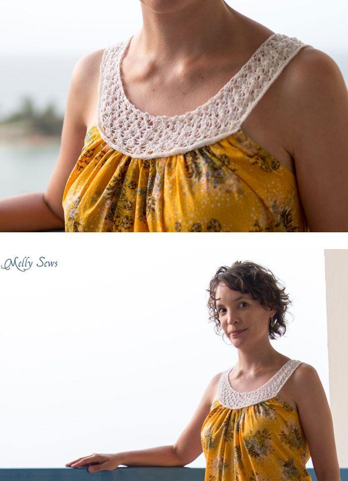 30) Days of Sundresses Knit Yoke Dress with Free Pattern | Knitting ...