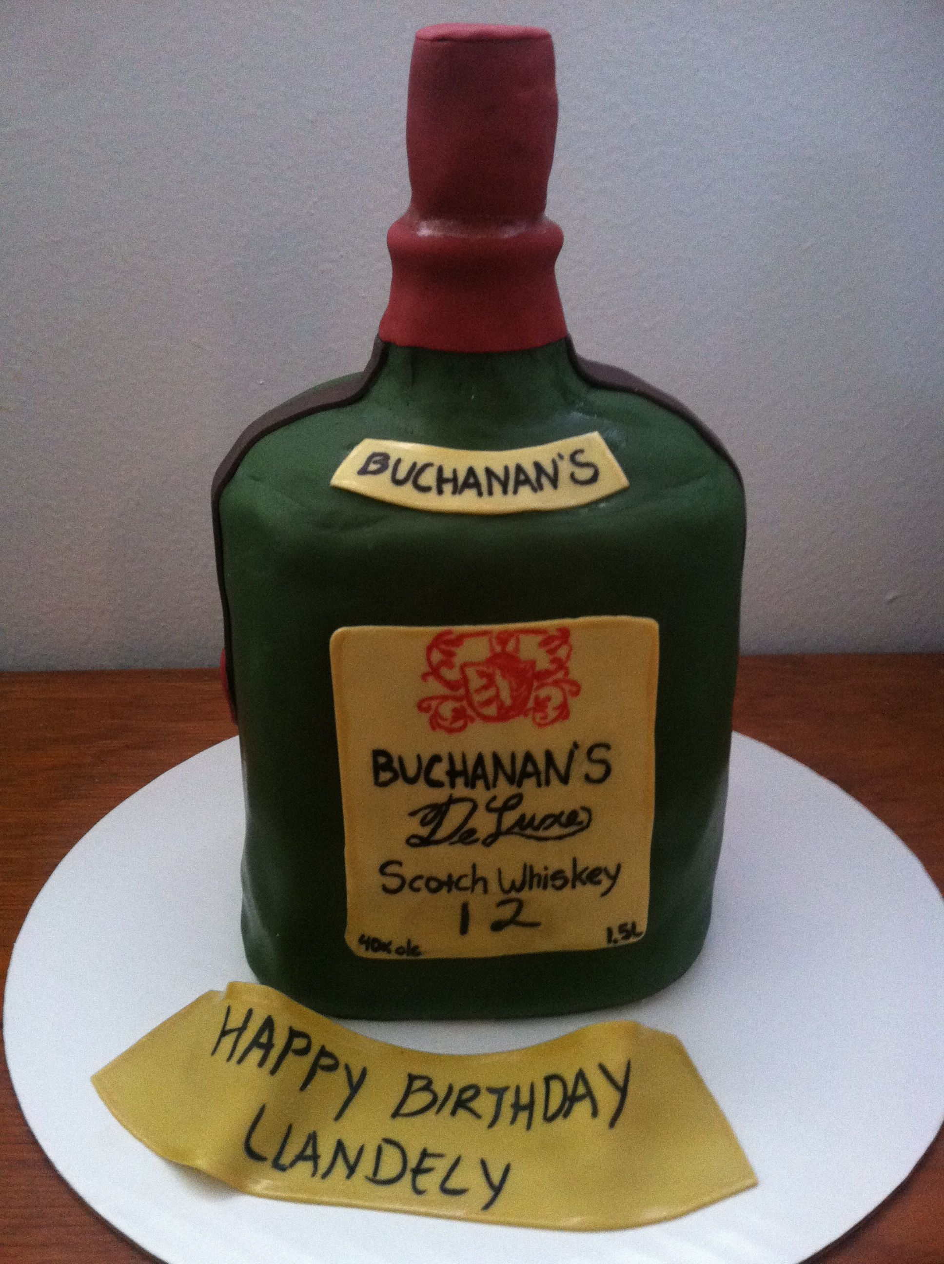 Buchanan S Bottle Cake Edible Buchanan S Bottle Birthday