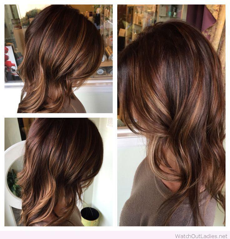 Warm Brunette With Honey And Caramel Hair Styles Medium Brown Hair Hair Color