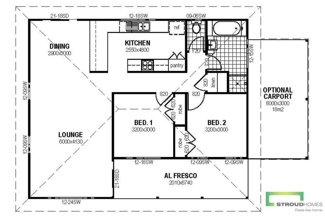The Alberta Granny Flat Floor Plan Granny Flat Stroud