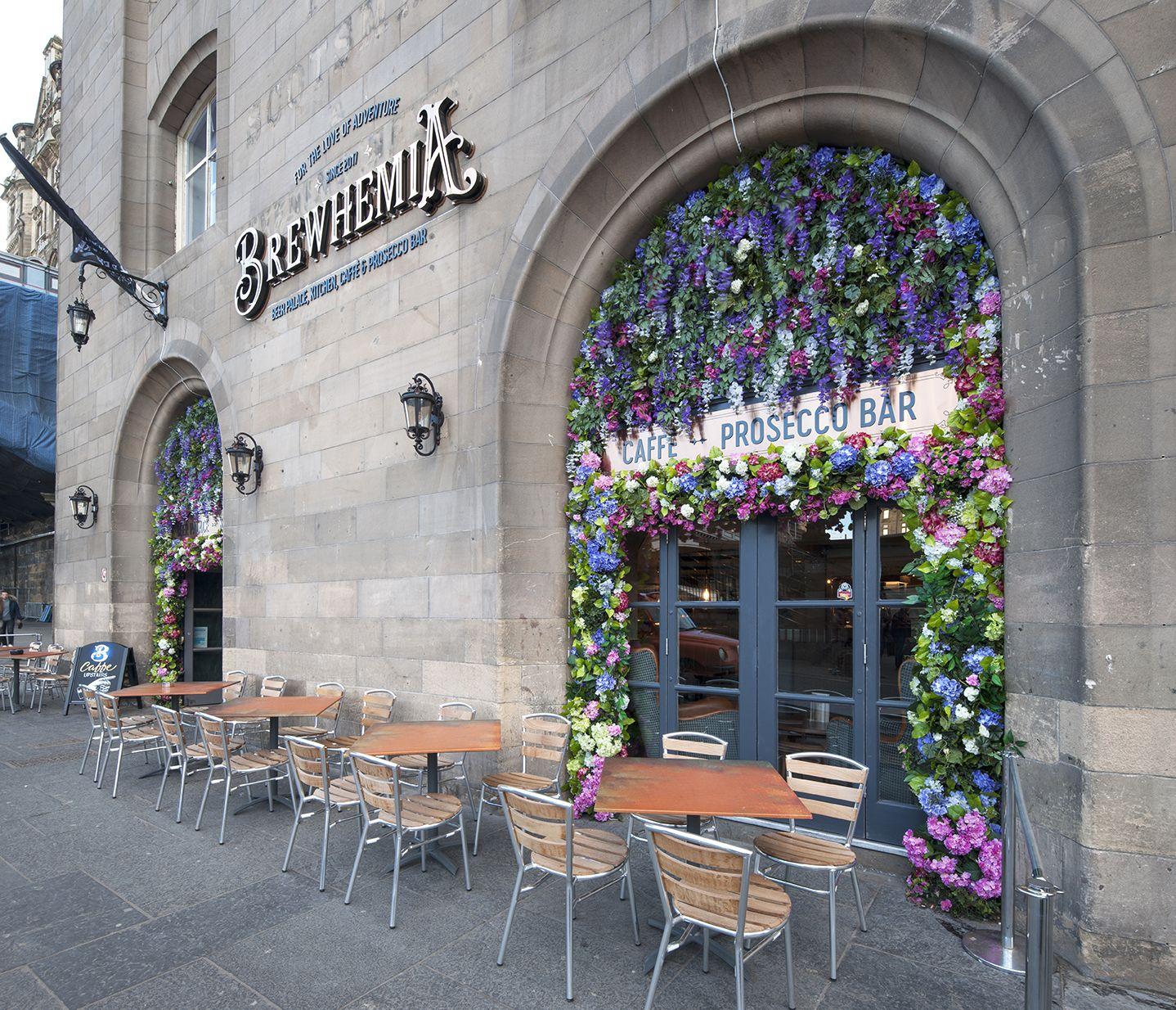 Stunning Floral Entrance For Brewhemia Edinburgh