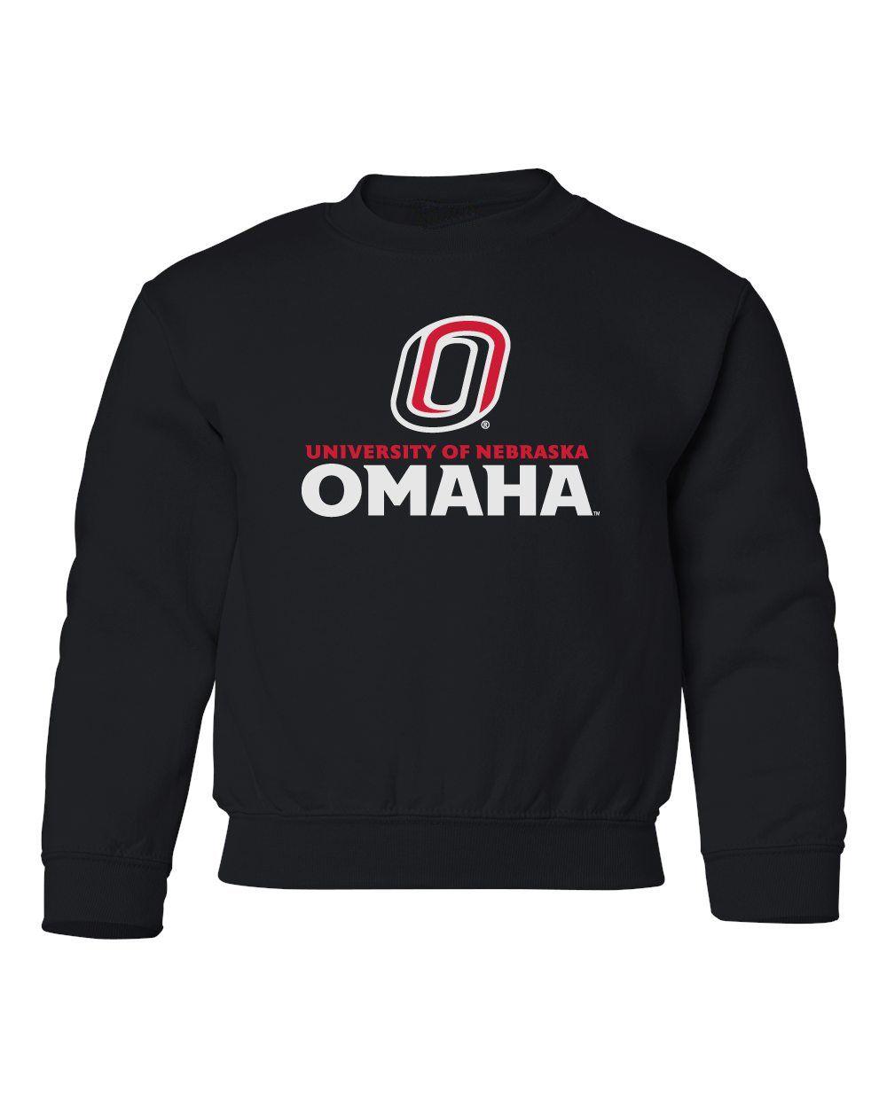 Omaha Mavericks Youth Crewneck Sweatshirt University Of Nebraska Omaha With Primary Logo On Black Omaha Nebraska Crew Neck Sweatshirt Sweatshirts [ 1250 x 1000 Pixel ]