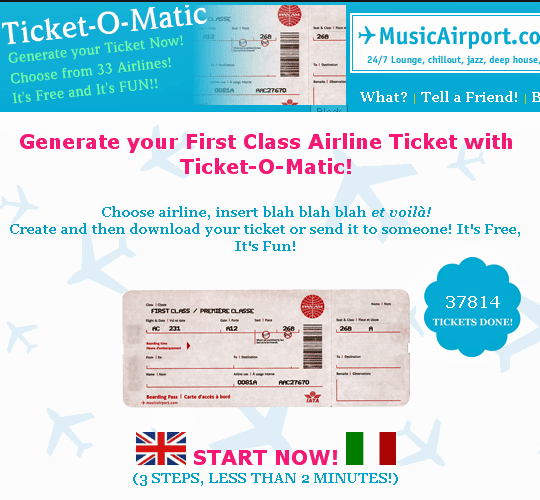TicketOMatic Is The Best Fake Airline Ticket Generator