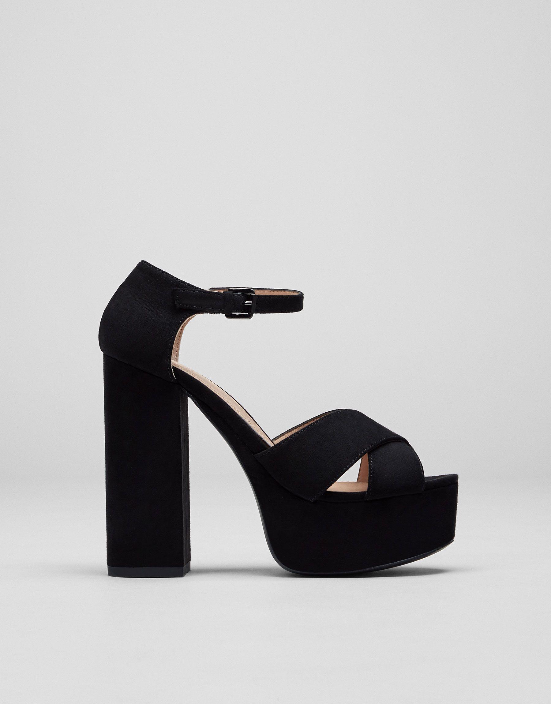 Sandale à talon soirée - Sandales à talon et semelle compensée - Chaussures  - Femme -
