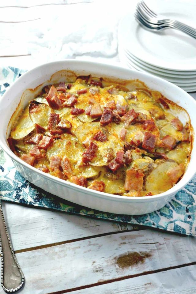 Use your leftover holiday ham to make this simple dish with sliced ...
