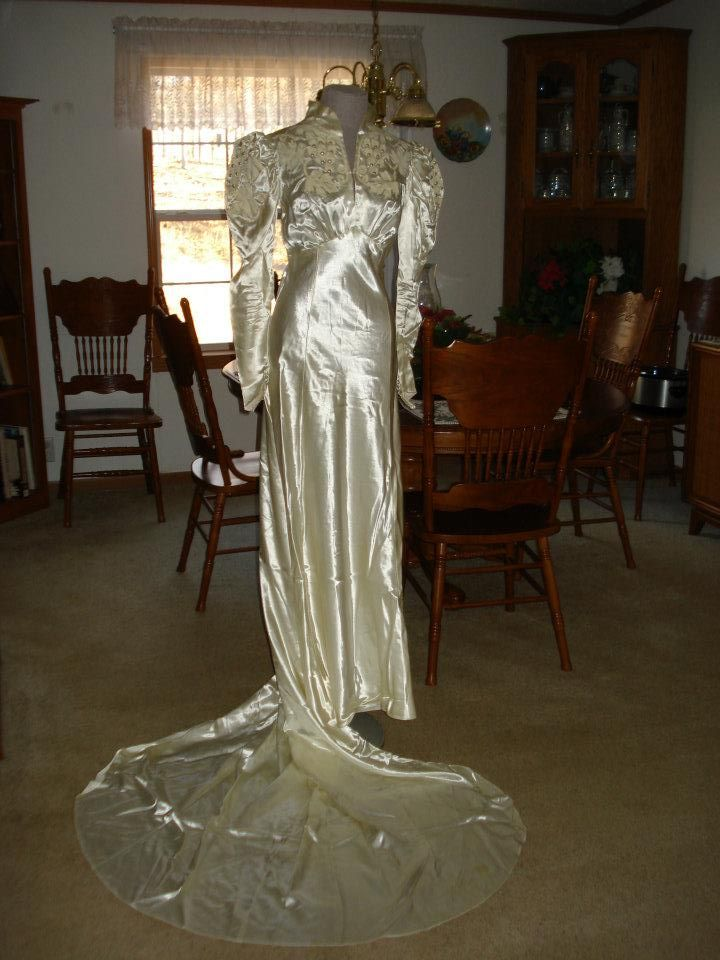 My great-grandmothers dress. If I could pull it off it would be very cool to wear, but I still have to try my mom's and then decide if I just want to find my own!