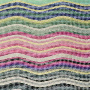 Missoni Linares Fabric #150 via Safari Living #fabric #cotton #multicolor #green #yellow #pink #blue