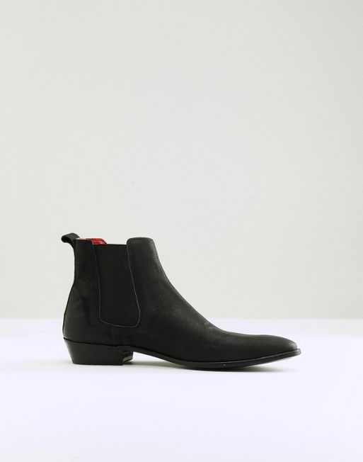 Walk London Ziggy Leather Chelsea Boots In Black - Black WALK LONDON j1lnaePK