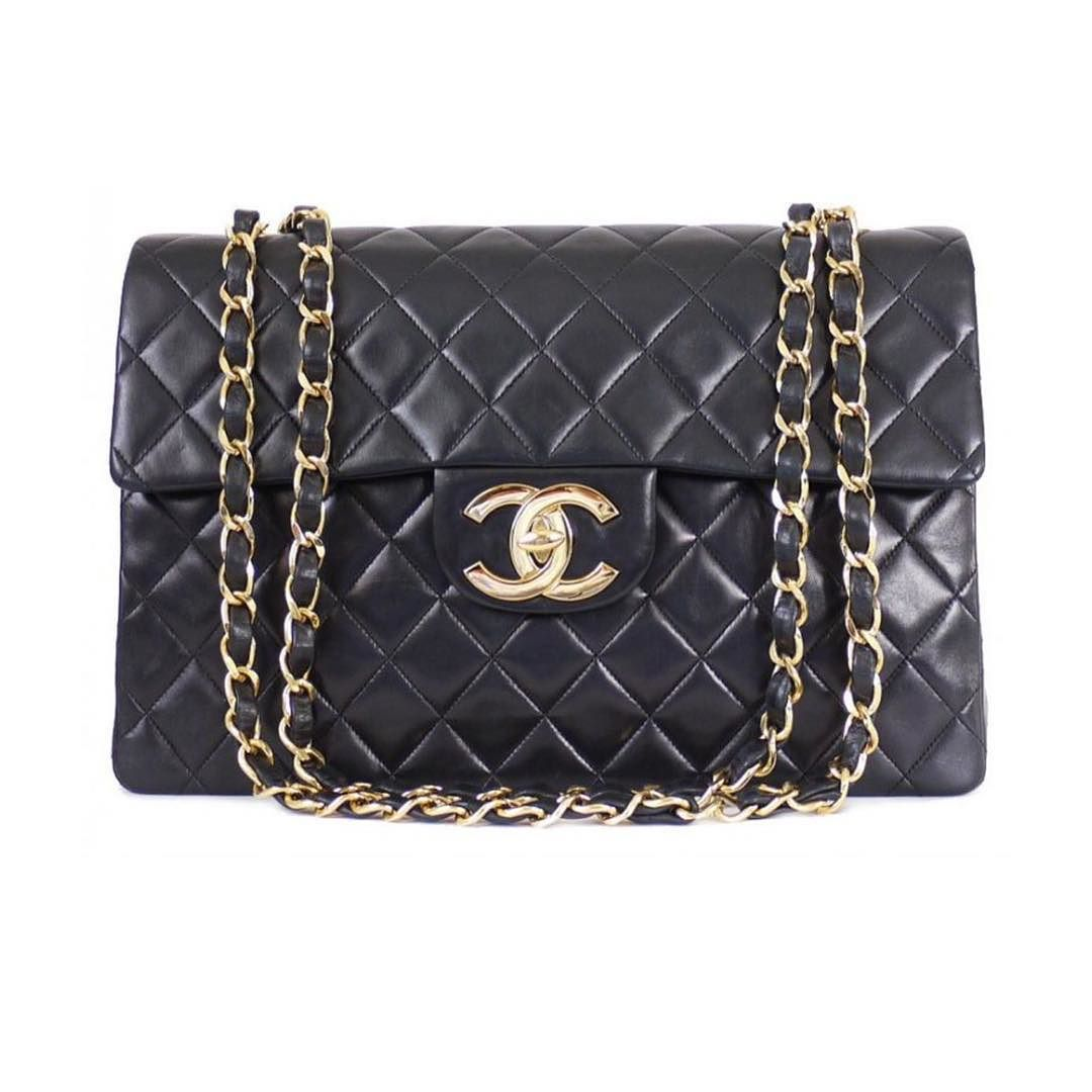 d3ec4e8b8879 Chanel lambskin XL Maxi flap bag measures 13.5 X 9 X 4 inches comes with  original dustbag and authenticity card 18k gold hardware throughout asking  $3100 ...