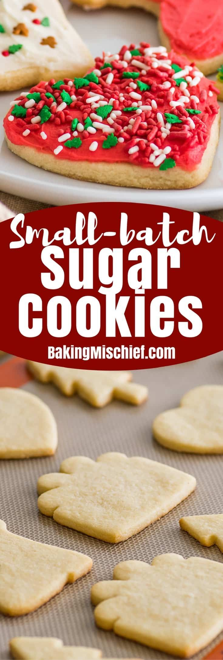 This Small Batch Of Cut Out Sugar Cookies Recipe Makes Just 8 To 12